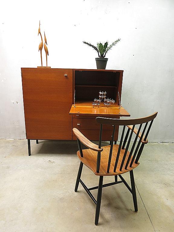 Mid century vintage design secretaire cabinet pierre guariche meurop wandkast bestwelhip - Kantoor guariche ...