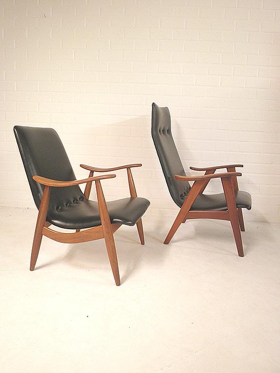 Lounge Stoel Wing : Deense design fauteuil skai leer lounge chair ...