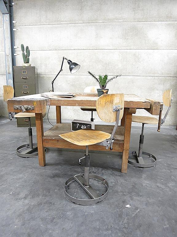 Vintage werktafel