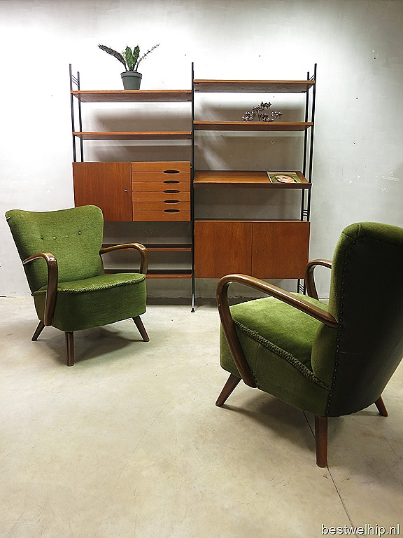 Mid century vintage design arm chairs clubfauteuils lounge chairs bestwelhip - Deco loungeeetkamer ...