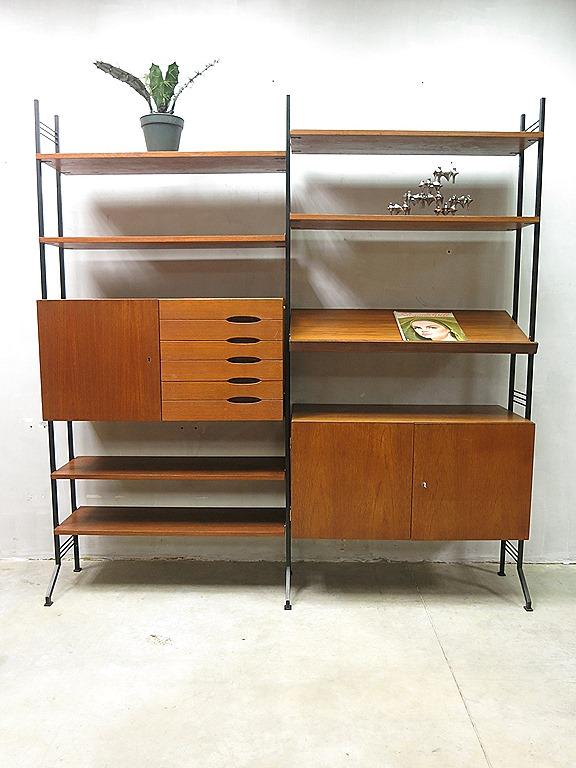 Vintage Teak Wandmeubel : Danish mid century vintage design wall unit ...