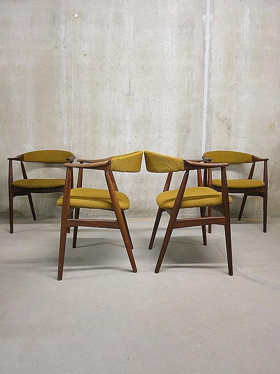 ... dining chairs, Deense vintage design eetkamer stoelen  Bestwelhip