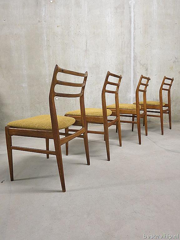 Deense vintage eetkamerstoelen, dining chairs Danish design j  Andersen, Niels O  M u00f8ller style