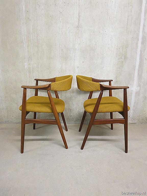Vintage Danish dining chairs, Deense vintage design eetkamer stoelen ...