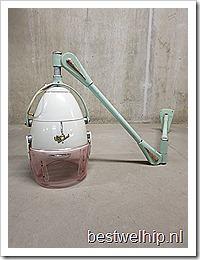 Fifties industriële haardroogkap wandlamp 'Wechsel'