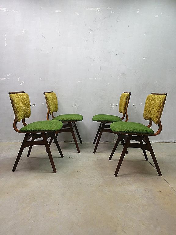 Mid century vintage design eetkamer stoelen dinner chairs bestwelhip - Een eetkamer voorzien ...
