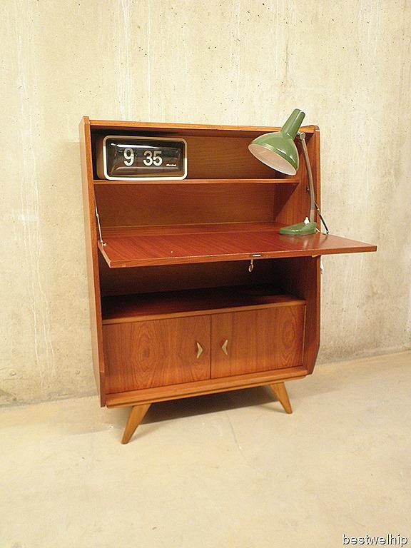 Vintage bureaukast secretaire Deense stijl   Bestwelhip