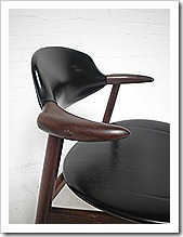 koehoorn eetkamer stoel vintage deense stijl