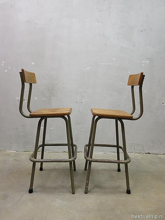 vintage krukken stoelen industrieel french industrial stools bar stool bestwelhip. Black Bedroom Furniture Sets. Home Design Ideas