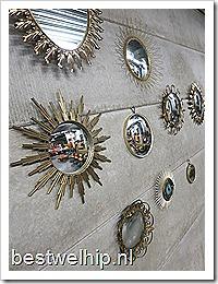 Vintage design spiegels, vintage design mirror