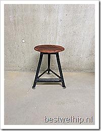 Vintage kruk industrieel Bauhaus stijl | Bestwelhip