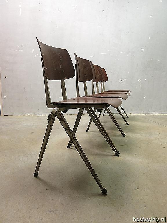 Galvanitas industriële vintage eetkamer stoelen, Industrial vintage ...