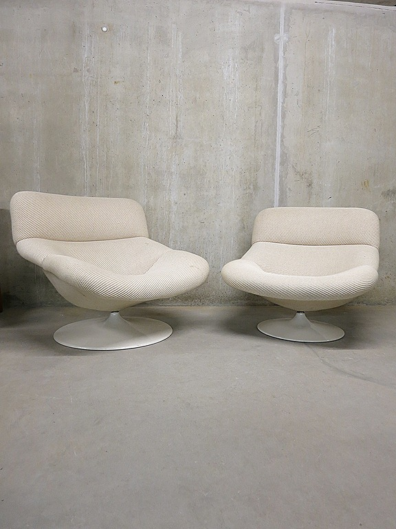 Artifort vintage design lounge stoel / swivel chair G. Harcourt ...