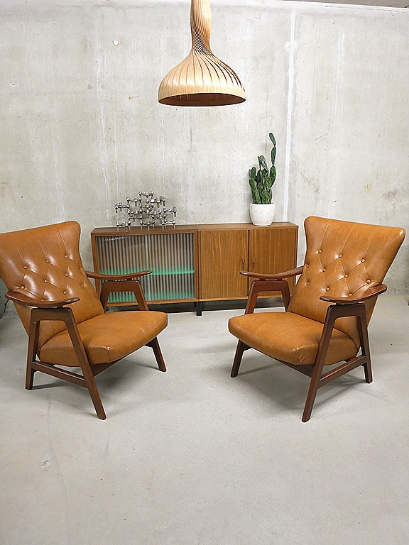 Scandinavische vintage lounge fauteuils chairs danish style bestwelhip - Lounge warme kleur ...