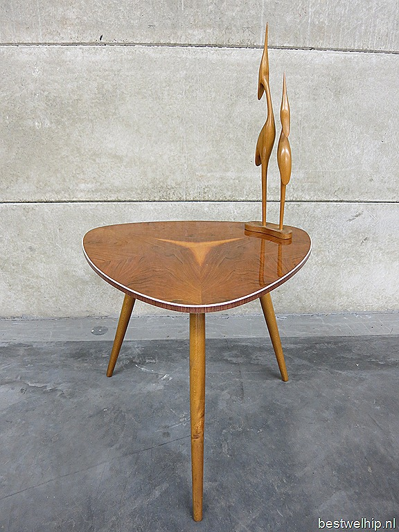 Retro Design Bijzettafel.Triangle Coffee Table Mid Century Vintage Design Bijzettafel