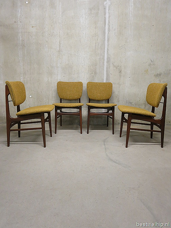 Deense eetkamerstoelen vintage dining chairs mid century Danish design   Bestwelhip