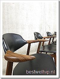 Vintage koehoorn stoelen Tijsseling Dutch design cowhorn chairs