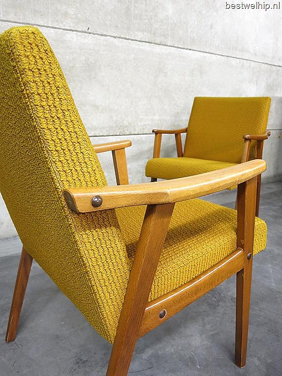 Vintage lounge stoelen scandinavische stijl vintage armchairs mid century design - Moderne lounge stijl ...