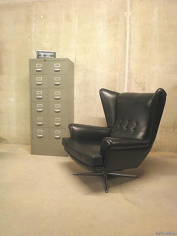Vintage design oor fauteuil wingback chair bestwelhip - Comfortabele fauteuil ...