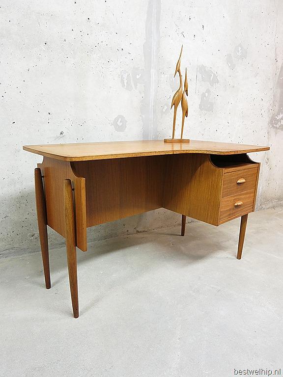mid century vintage design desk danish vintage design bureau deens bestwelhip. Black Bedroom Furniture Sets. Home Design Ideas
