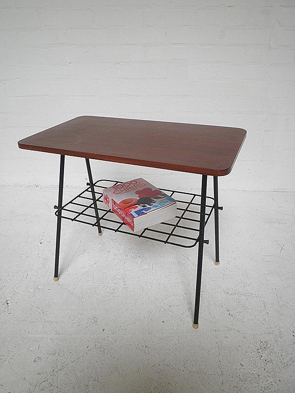Vintage design bijzettafeltje, magazinerack   Bestwelhip