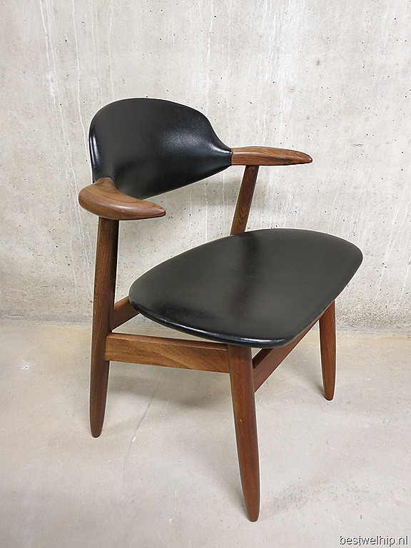 Vintage koehoorn stoelen tijsseling dutch design bestwelhip for Dutch design stoel