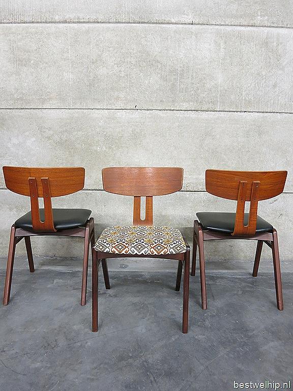Mix match vintage design eetkamerstoelen dinner chairs for Dutch design eetkamerstoelen