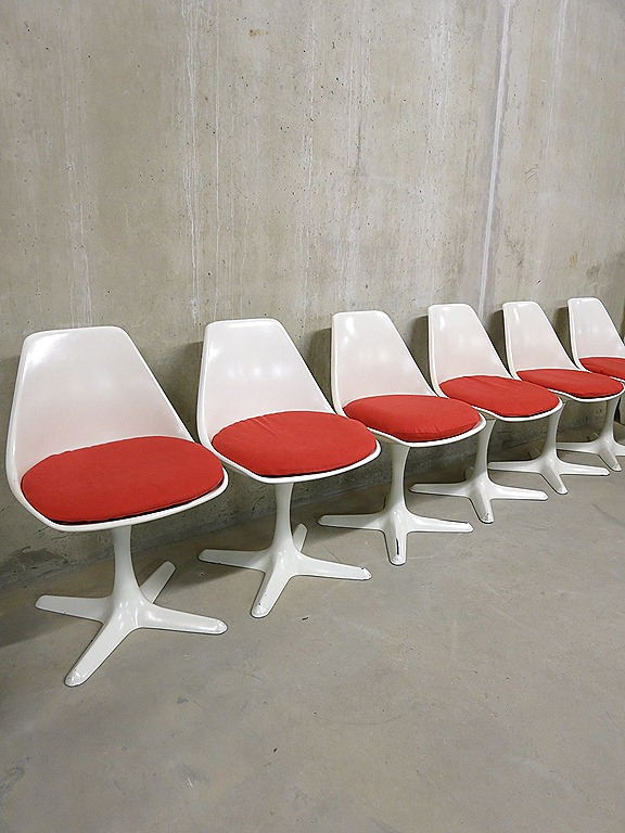Arkana Tulip Dining Chairs Mid Century Modern Design