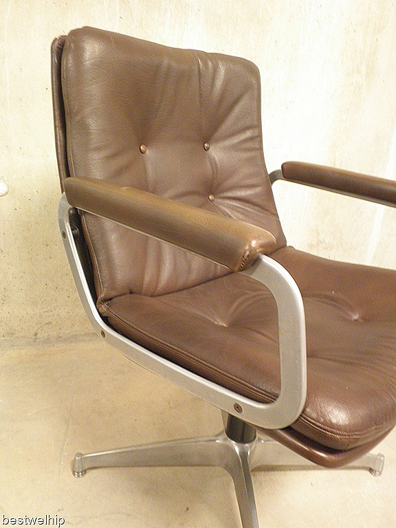 Artifort vintage easy chair geoffrey harcourt bestwelhip for Vintage leren stoel