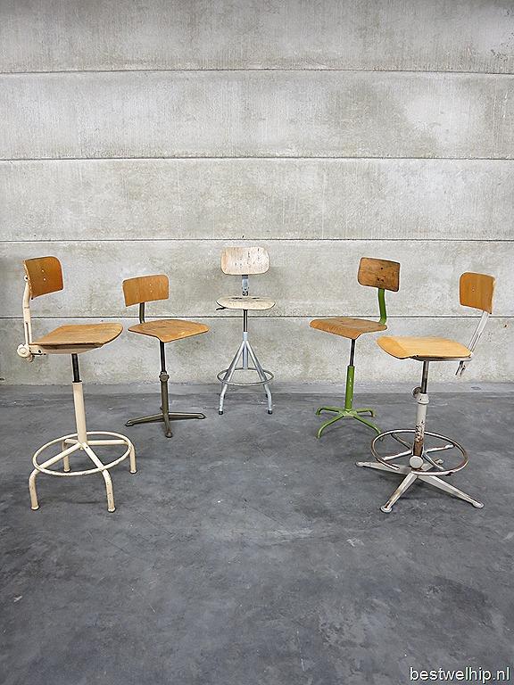 Vintage Design Kruk Barkrukken Industrieel Industrial