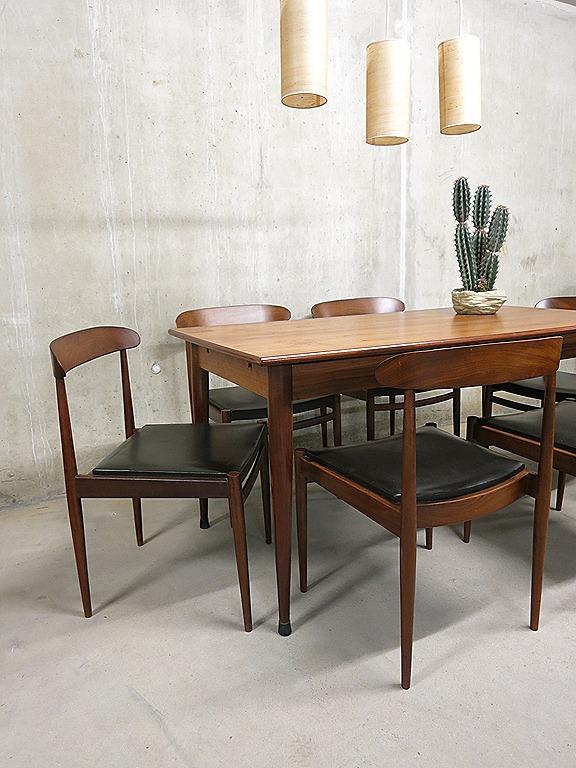 Mid century vintage design Deense eetkamer set, Danish vintage dining ...