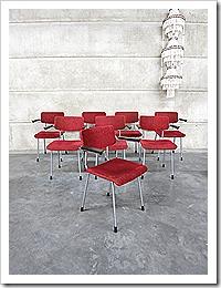 Gispen eetkamer stoelen vintage dinner chairs Dutch design