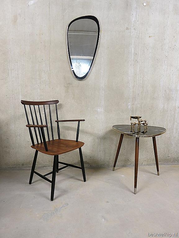 vintage spiegel retro ovaal jaren 50 60, mirror mid century design ...