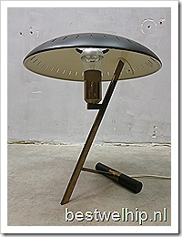 Mid century vintage design desk Lamp Louis Kalff voor Philips First Edition