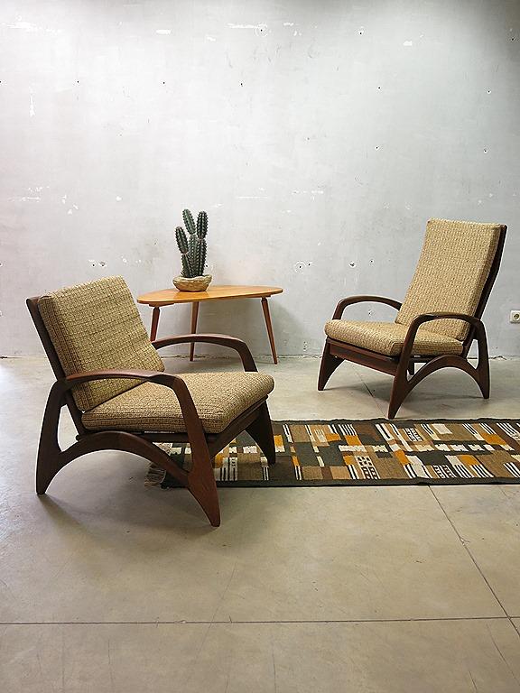 Dames En Heren Fauteuils.Mid Century Design Armchairs Vintage Design Lounge Stoelen