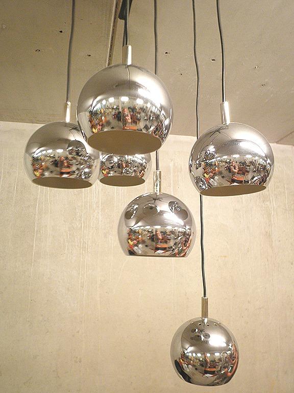 vintage hanglamp chromen bollen pendant chrome spheres bestwelhip. Black Bedroom Furniture Sets. Home Design Ideas