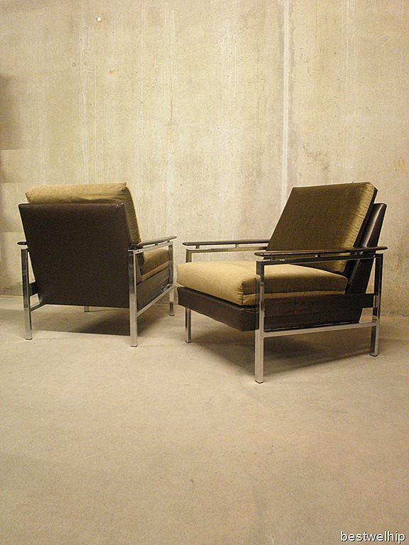 Mid century lounge chairs industrieel bestwelhip for Industrieel fauteuil