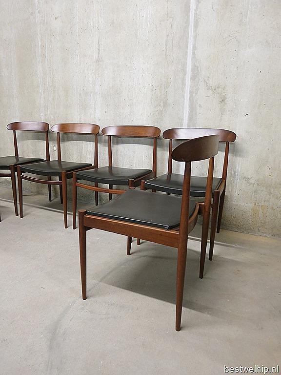 Mid century vintage design eetkamer stoelen Alfred Hendrickx ...