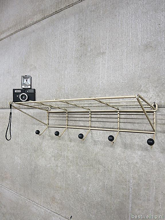Vintage Wandrek Kapstok Industrieel Friso Kramer T