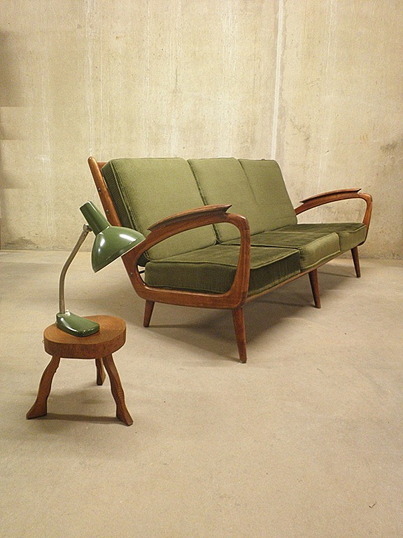 Vintage design bank sofa deense stijl bestwelhip - Bank jaren ...