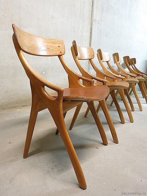 Danish dining chairs  u0026 dining table H  Olsen vintage design eetkamerstoelen  u0026 tafel Deens