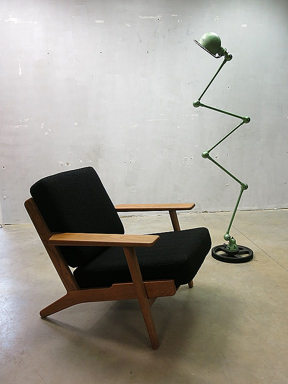 zeldzame vintage design fauteuil hans j wegner armchair. Black Bedroom Furniture Sets. Home Design Ideas
