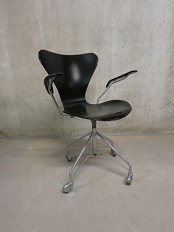 Vintage design bureaustoel stoel arne jacobsen fritz for Bureaustoel vintage