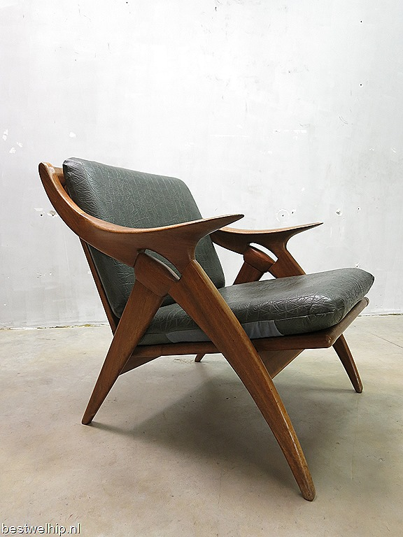 De ster gelderland fauteuil vintage mid century design for Dutch design stoel