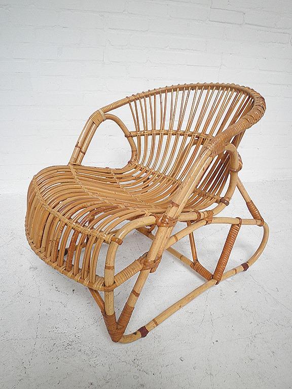 Rotan vintage design fauteuil bestwelhip for Bauhaus stoel vintage