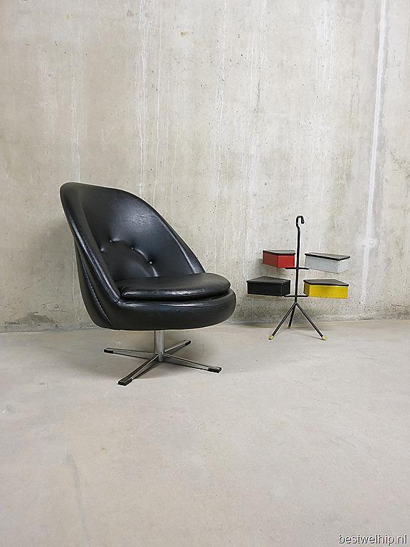 ... 50 cocktail stoel lounge stoel vintage design Rohe stijl draaifauteuil