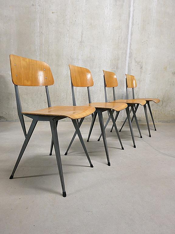 Industriele Vintage Stoelen.Industriele Vintage Stoelen Industrial Chairs Friso Kramer