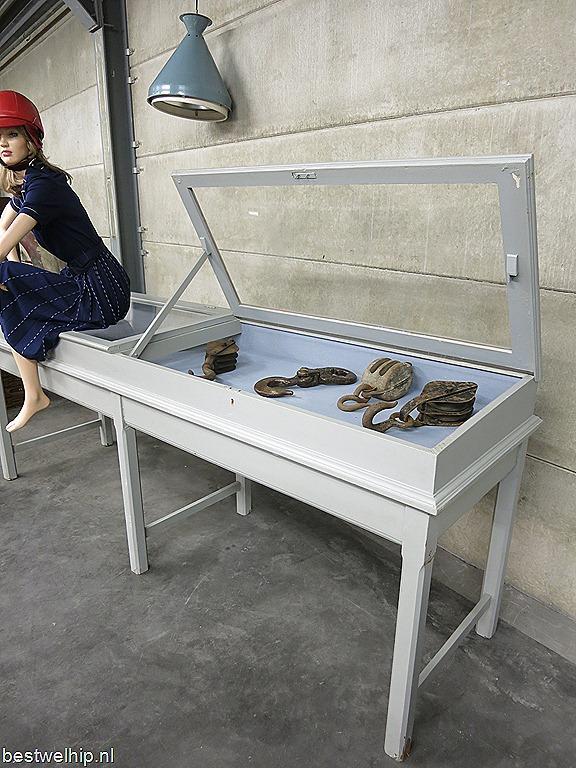 Vitrinekast Voor Op Toonbank.Vitrine Kast Toonbank Xl Vintage Industrieel Winkelvitrine Counter