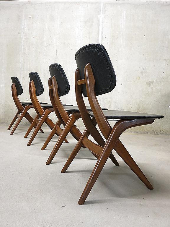 Webe vintage design eetkamer stoelen Louis van Teeffelen dinner chairs   Bestwelhip