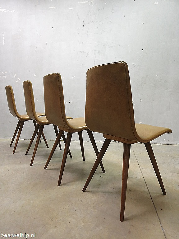 Vintage dutch design dinner chairs eetkamer stoelen os bestwelhip - Ontwerp eetkamer design ...